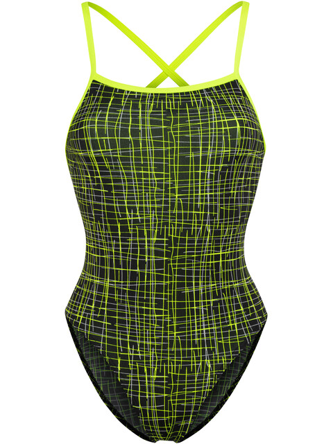 Funkita Strapped In One Piece - Maillot de bain Femme - jaune/noir